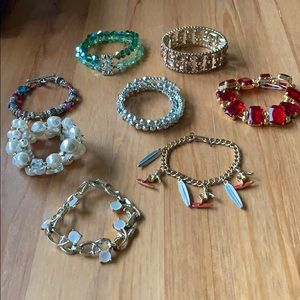 Lot of 8 Costume Jewelry Bracelets
